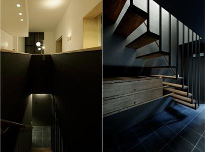 戸塚の家の部屋 リビングに繋がるオープン型階段