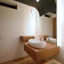 宝塚の家の写真 木を感じる洗面台