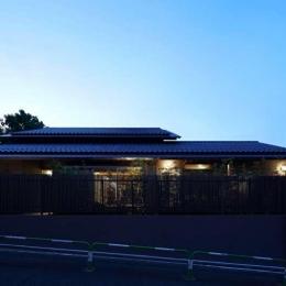 尾山台S邸 (外観夜景)