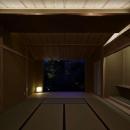 尾山台S邸の写真 和室夜景