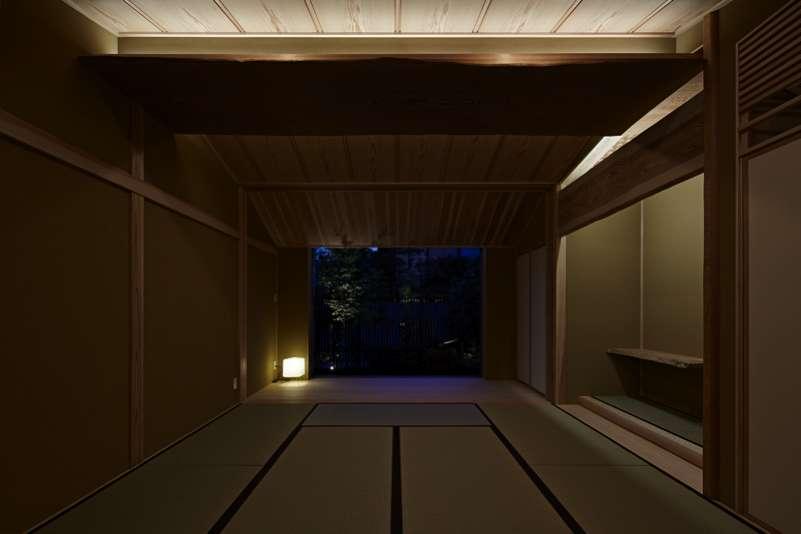 尾山台S邸の部屋 和室夜景