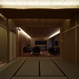 尾山台S邸 (ダイニング・リビング・和室夜景)