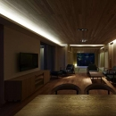 尾山台S邸の写真 ダイニング・リビング・和室夜景