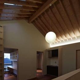 尾山台S邸 (2階リビング夜景)