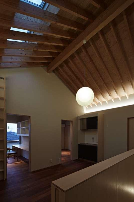 尾山台S邸の部屋 2階リビング夜景