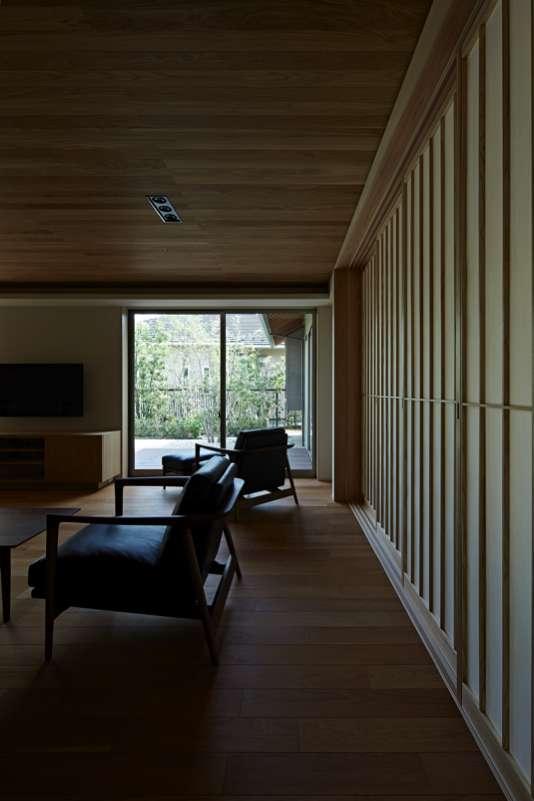 尾山台S邸の部屋 リビング