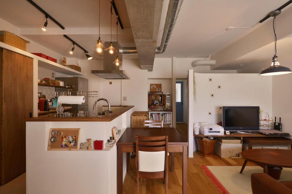 Y邸・漆喰の壁に囲まれて暮らす、光と風あふれる家 (LDK)