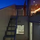 外部2層テラス夜景