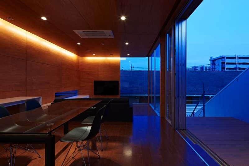 土呂N邸の写真 LDK夜景