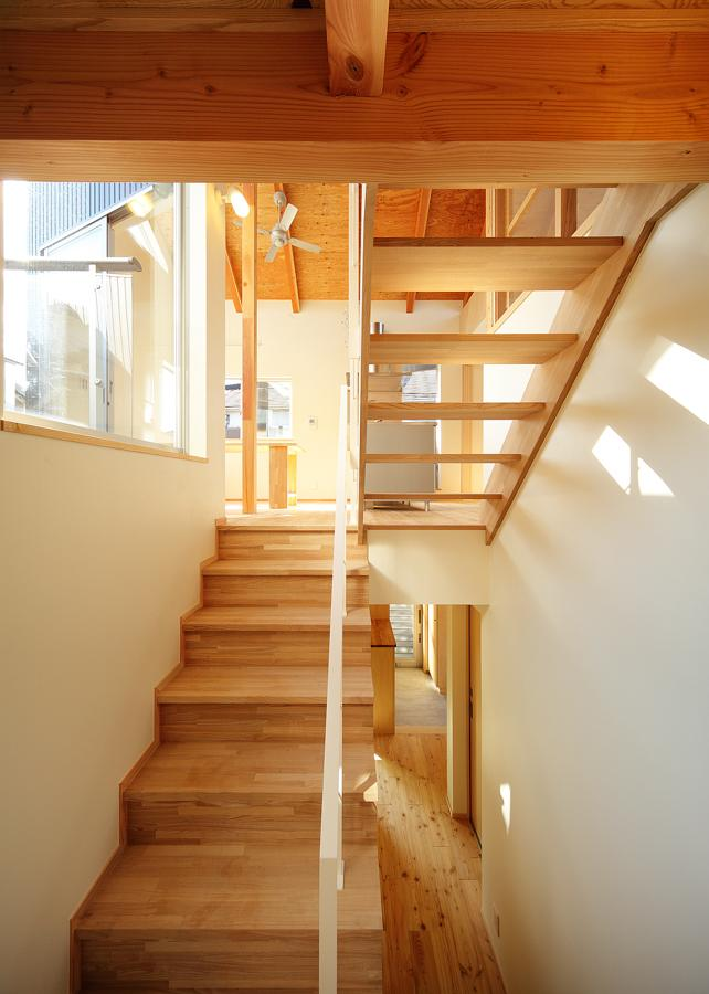 結芽の家-ゆめのいえの部屋 開放感を実現するためのスキップフ ロア