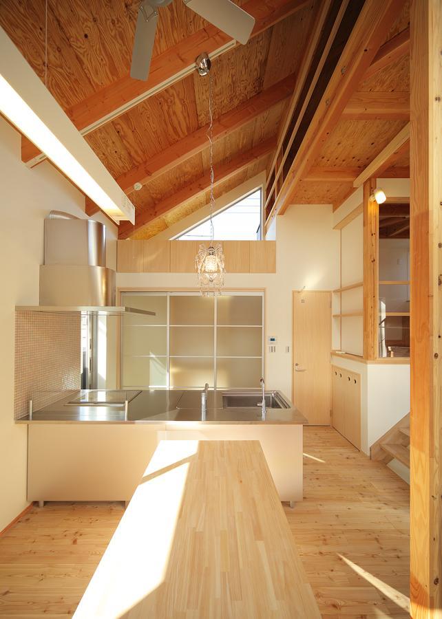 結芽の家-ゆめのいえの部屋 ダイニングテーブル付きの対面キッチン