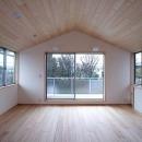 府中の家の写真 屋根勾配を生かした天井と主寝室