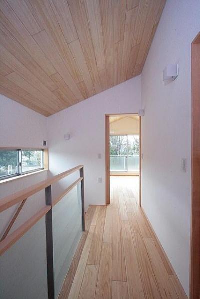 2階階段室(北面の書斎を望む) (府中の家)