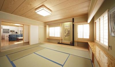 木の香りに満ちた高級感のある和室 (二人だけの空気だからこそ、解放空間で・・・)