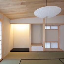 富士見台の家 (カシュー塗りで仕上げた床の間)