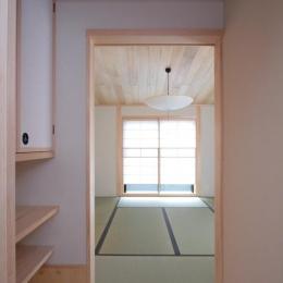 富士見台の家 (入口手前の水屋)