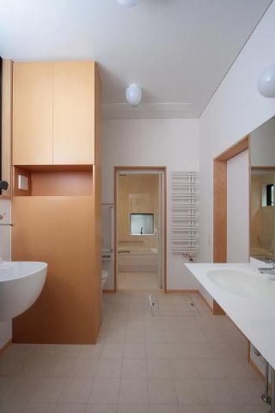 洗面台・浴室 (富士見台の家)