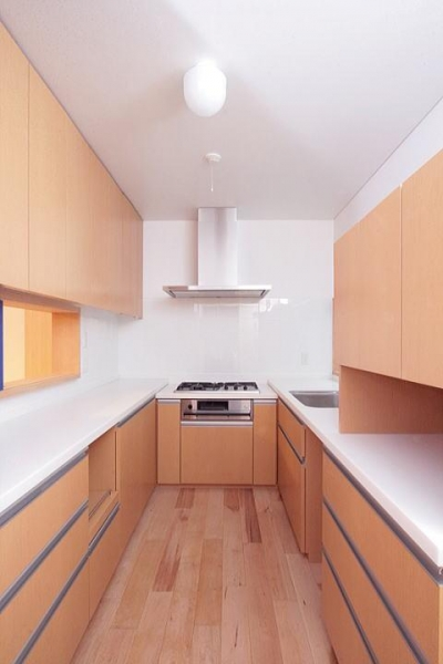 富士見台の家 (家具として製作したキッチン)
