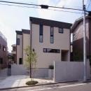 関町北の家の写真 北側道路(アプローチ)より望む
