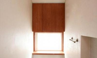 2階のトイレ|八雲の家 ヨーロピアンテイストの小さな家