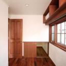 八雲の家 ヨーロピアンテイストの小さな家の写真 書斎と連続する階段下収納
