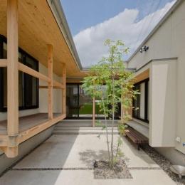七郷の平屋 (中庭からの眺め)