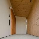 七郷の平屋の写真 木を感じる玄関ポーチ