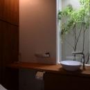 自然を感じるトイレ