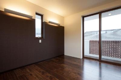 寝室 (T 様邸 「鉄筋コンクリートの家」)