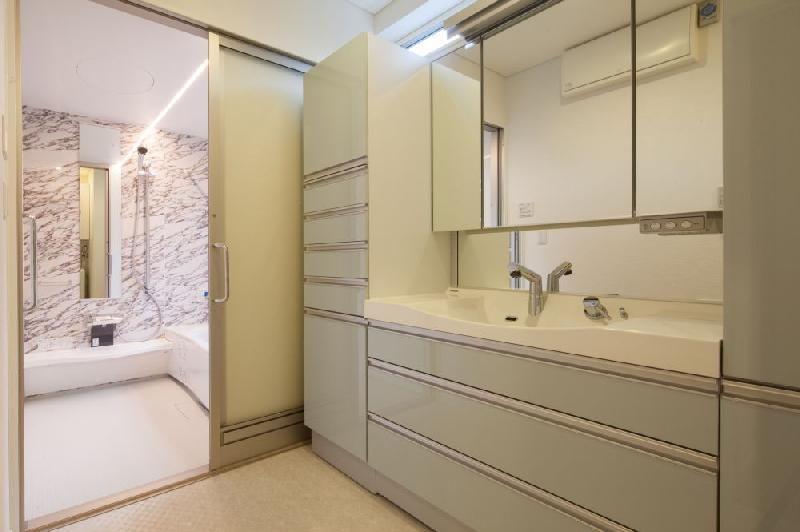 T 様邸 「鉄筋コンクリートの家」の部屋 洗面脱衣