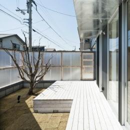 蒔絵台のSimpleBoxHouse 2 (プライバシーを守る中庭)