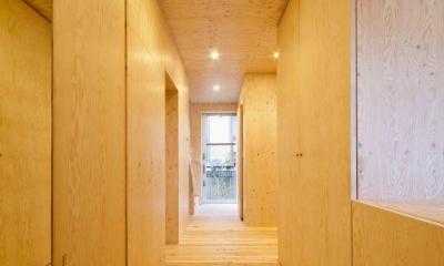 蒔絵台のSimpleBoxHouse 2 (ナチュラルな玄関)