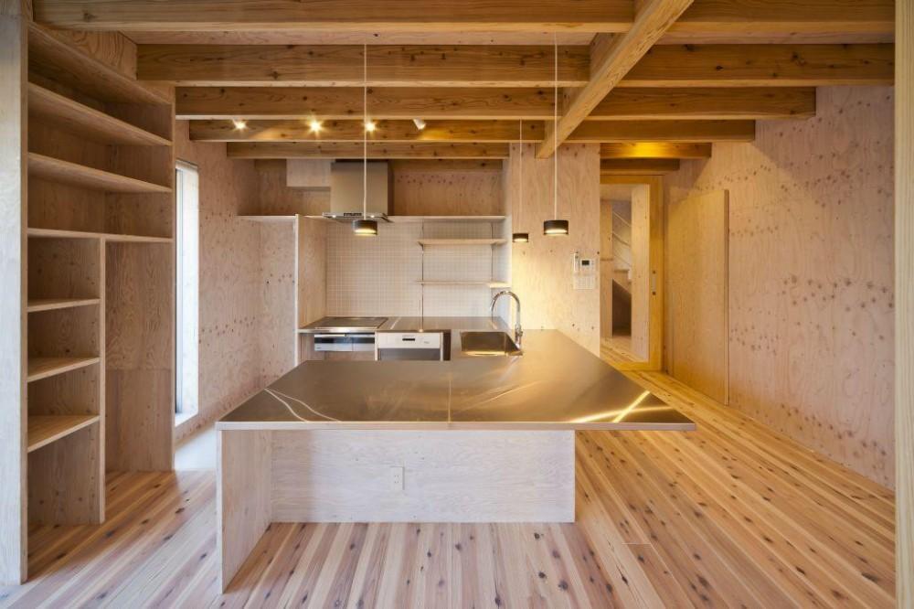 蒔絵台のSimpleBoxHouse 2 (広々したキッチン)