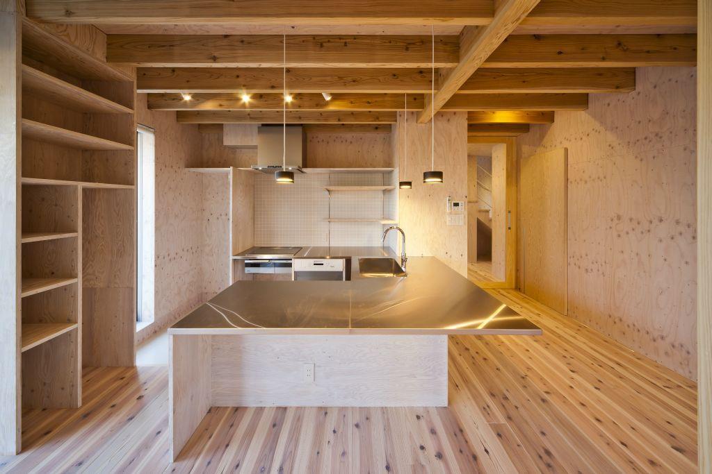 蒔絵台のSimpleBoxHouse 2の部屋 広々したキッチン