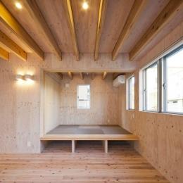 蒔絵台のSimpleBoxHouse 2 (小上がり和室のあるリビング)