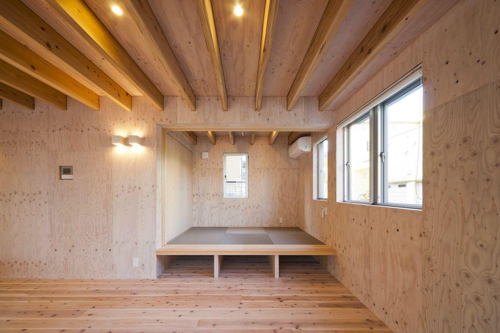 蒔絵台のSimpleBoxHouse 2の部屋 小上がり和室のあるリビング