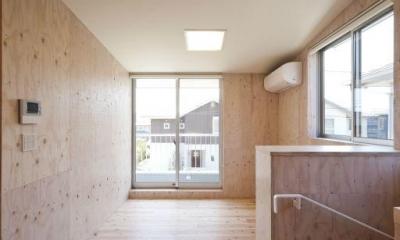 蒔絵台のSimpleBoxHouse 2 (ナチュラルなベッドルーム)