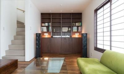造作本棚のある家:『江古田の戸建リノベーション』