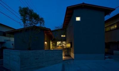 割田の家 (外観夜景)
