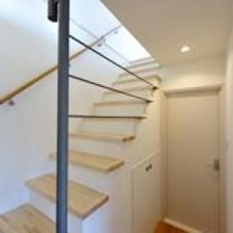 西落合の家 (半地下階段ホール)