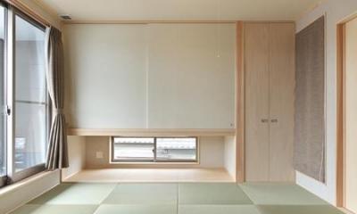 縁無し畳を敷き詰めた和室|松阪市のY邸