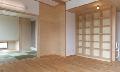 松阪市のY邸 (リビングと繋がりのある和室)