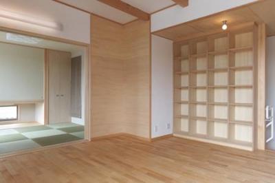 リビングと繋がりのある和室 (松阪市のY邸)