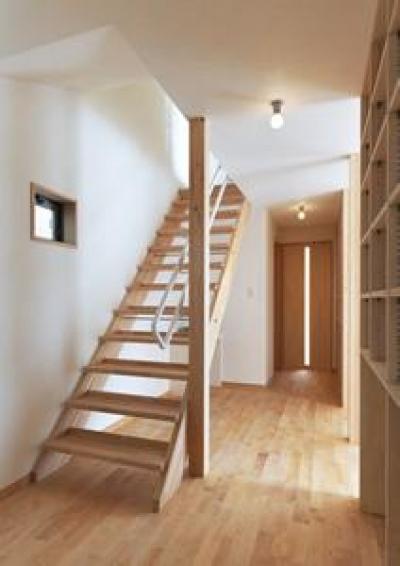 廊下・オープン型階段 (松阪市のY邸)