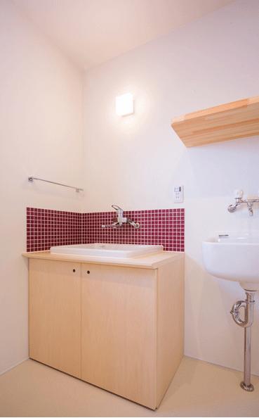 デまど~ココからの景色~の部屋 オーダーメイドの洗面台