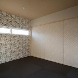 鈴鹿市のO邸 (黒い琉球畳を敷いた和風空間)