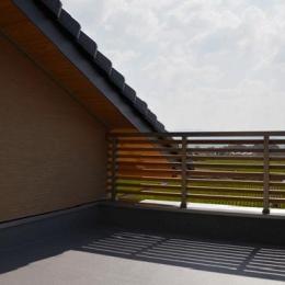 ハタノウエ~和歌山の家~ (田園風景が広がるバルコニー)