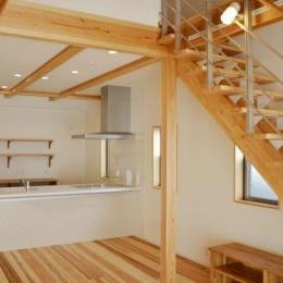 ハタノウエ~和歌山の家~ (造作棚のあるキッチン)