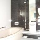 採光で明るいLDKへの写真 モダンな空間のバスルーム