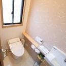 スッキリと明るいトイレ
